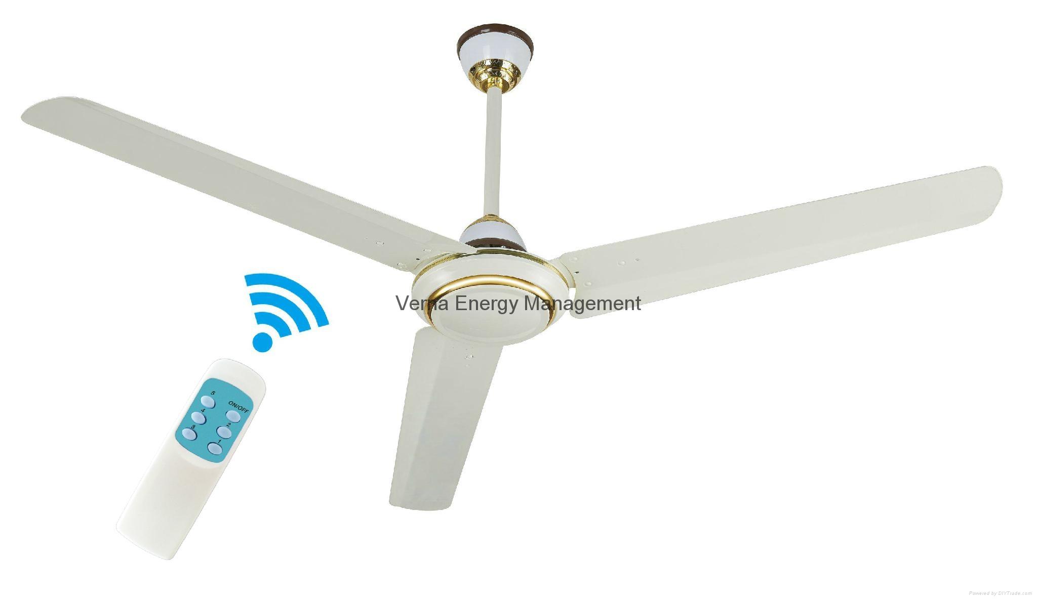 48'' DC12V Solar BLDC Ceiling Fan 25W 330RPM 3