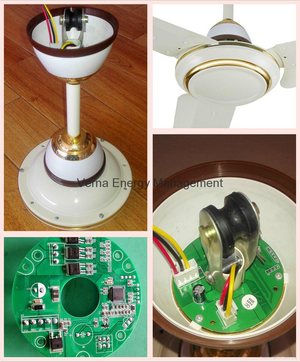 48'' DC12V Solar BLDC Ceiling Fan 25W 330RPM 2