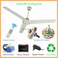 48'' DC12V Solar BLDC Ceiling Fan 25W