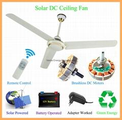 48'' DC12V Solar BLDC Ceiling Fan 25W 330RPM