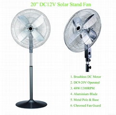 "20"" DC12V BLDC Stand Fan for Pakistand Market"