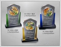 水晶琉璃獎牌 W-1056