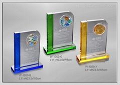 水晶琉璃獎牌 W-1059