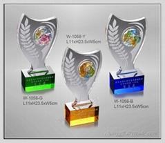 水晶琉璃獎牌 W-1058