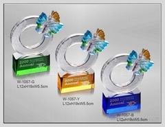 水晶琉璃獎牌 W-1057