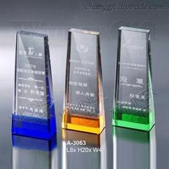 水晶奖牌-A3063