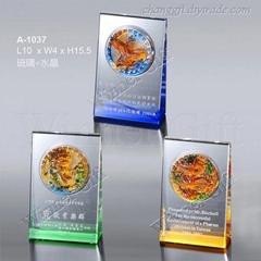 水晶琉璃獎牌-A1037