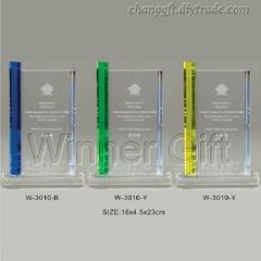 水晶獎牌-W3010