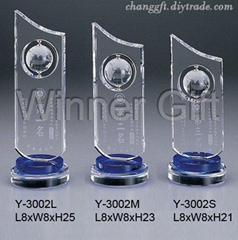 水晶獎牌-W3022
