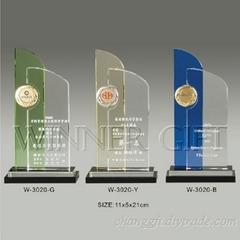 水晶獎牌-W3020