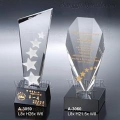 水晶獎牌-A3059/A3060