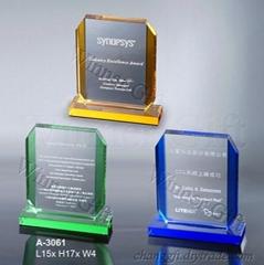 水晶獎牌-A3061
