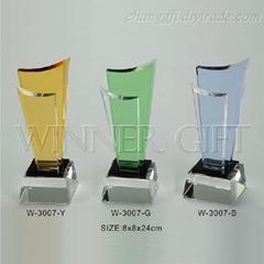 水晶獎牌-W3007
