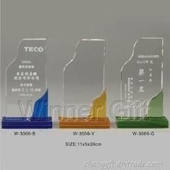 水晶獎牌-W3006