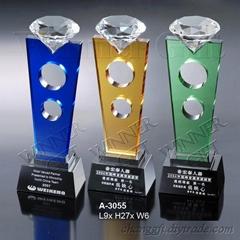 水晶獎牌-A3055