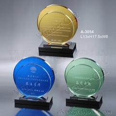 水晶獎牌-A3054