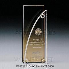 水晶獎牌-W3029