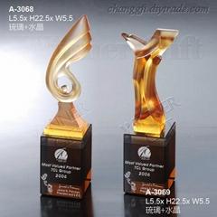 水晶琉璃獎牌-A3068/A3069