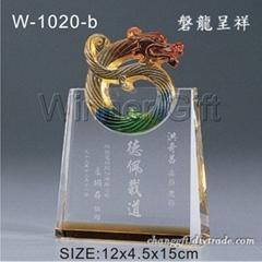 水晶琉璃獎牌-W1020