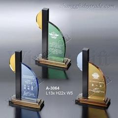 水晶獎牌-A3064