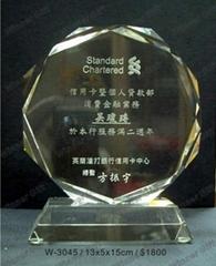 水晶獎牌-W3045