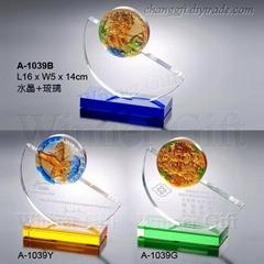 水晶琉璃獎牌-A1039