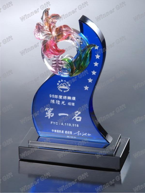 水晶琉璃獎牌-A1040 2
