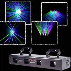 400mw multi heads mix color laser light beam show