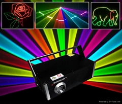 1 waltt stage dj and disco RGB 3D laser light project show