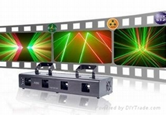 400mw Four tunnels Red and green laser stage light equipment