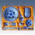青花玲珑餐具 1