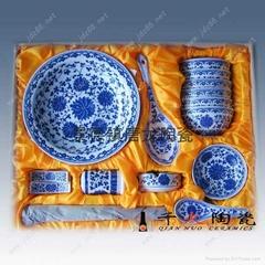 青花玲珑餐具