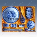 青花玲珑餐具 2