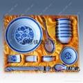 青花玲珑餐具 3