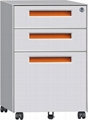 3 drawers vertical filing cabinet