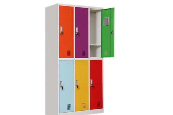colorful door office locker