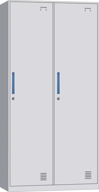 2 Door Steel Cabinet Locker Furniture Storage Locker Cabinet Steel Employee Lock