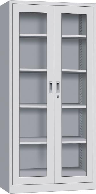 Customized 2 glass door cabinet furniture filling cabinets with storage