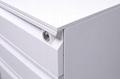 Office desk pedestal mobile filing cabinet 3 drawer