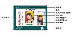 幼儿園門口人臉識別測溫考勤機刷卡機(壁挂)