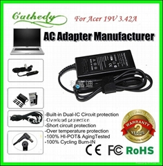 New original laptop charger for acer 65W 19V 3.42A Top quality