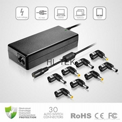 90W Universal Laptop AC Adapter With 8 Auto Switch connectors