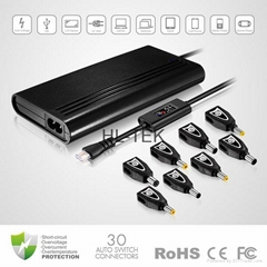 90W Ultra Slim Universal Laptop AC Adapter With 5V 2.3A USB output