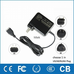 Tablet pc charger wall plug EU US UK AU for HP Slate2,Slate500,HSTNN-DA20 21