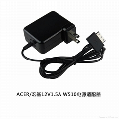 12V 1.5A AC Wall Charger Adapter for Acer Iconia W510 W510P W511 W511P Tablet