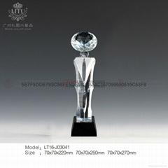 广州水晶奖杯制作