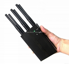 Portable 6Bands Cell phone,Wi-Fi,Lojack,GPS Jammer/Blocker:CPJ-3050