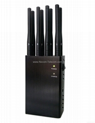 Portable 8 Bands Cellphone Wi-Fi/Bluetooth ,GPS,Lojack Jammer/Blocker:CPJ-P8