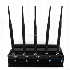 Stationary 5 Bands Cellphone,Wi-Fi/Bluetooth Jammer/Blocker:CPJ-X5adSeries