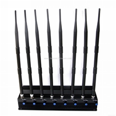 Adjustable Stationary8Bands Cellphone Wi-Fi Lojack GPS Jammer/Blocker